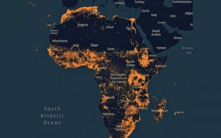Map Of Africa Detailed.Facebook Has Designed A High Resolution Detailed Map Of