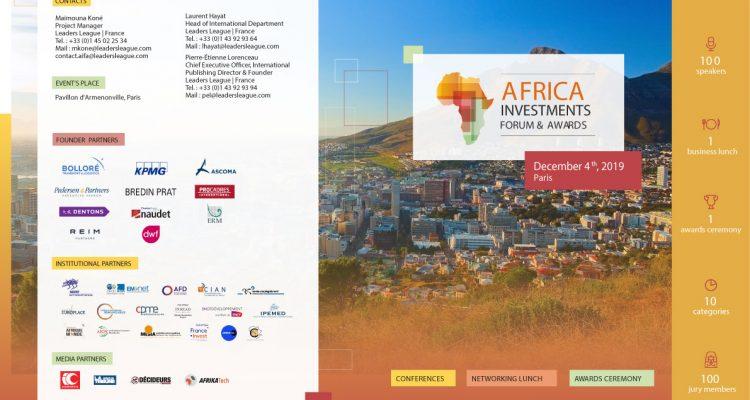 Africa Investments Forum & Awards est un événement dédié aux opportunités d'affaires