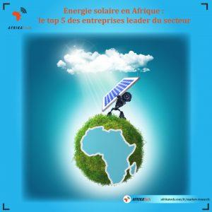 Energie solaire en Afrique : le top 5 des entreprises leader du secteur